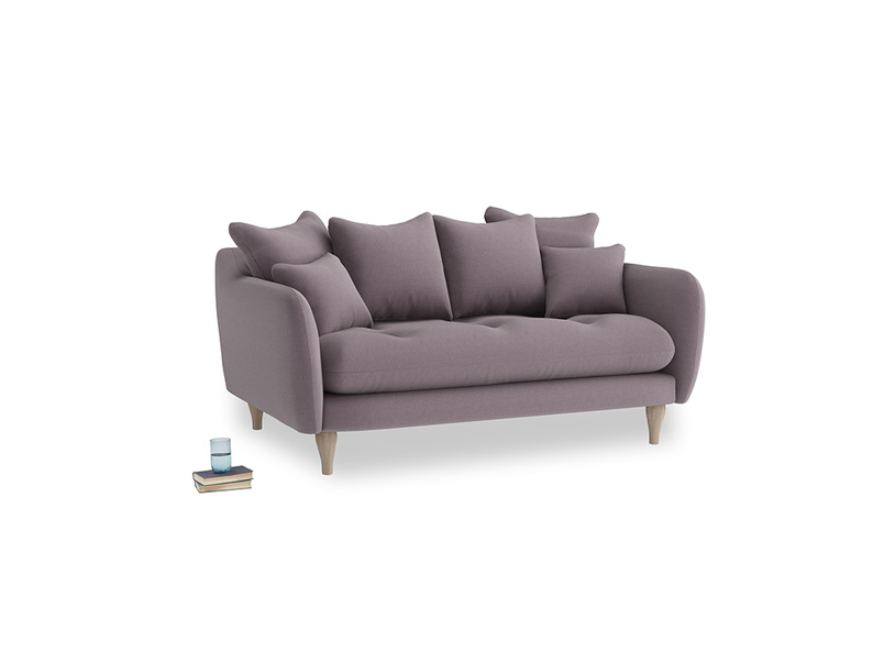 Small Skinny Minny Sofa in Lavender brushed cotton
