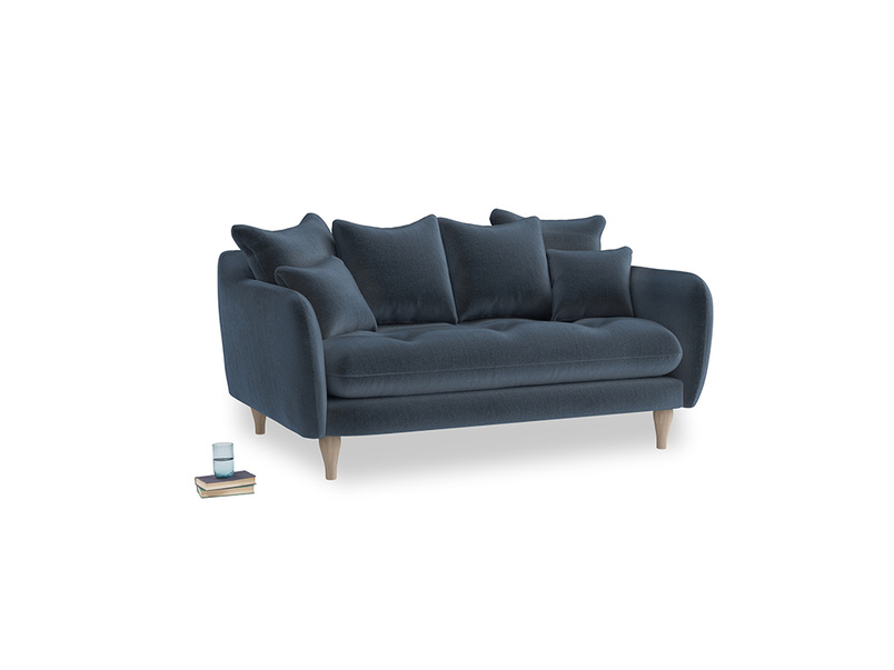 Small Skinny Minny Sofa in Liquorice Blue clever velvet