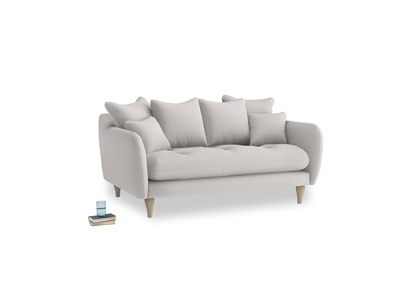 Small Skinny Minny Sofa in Lunar Grey washed cotton linen