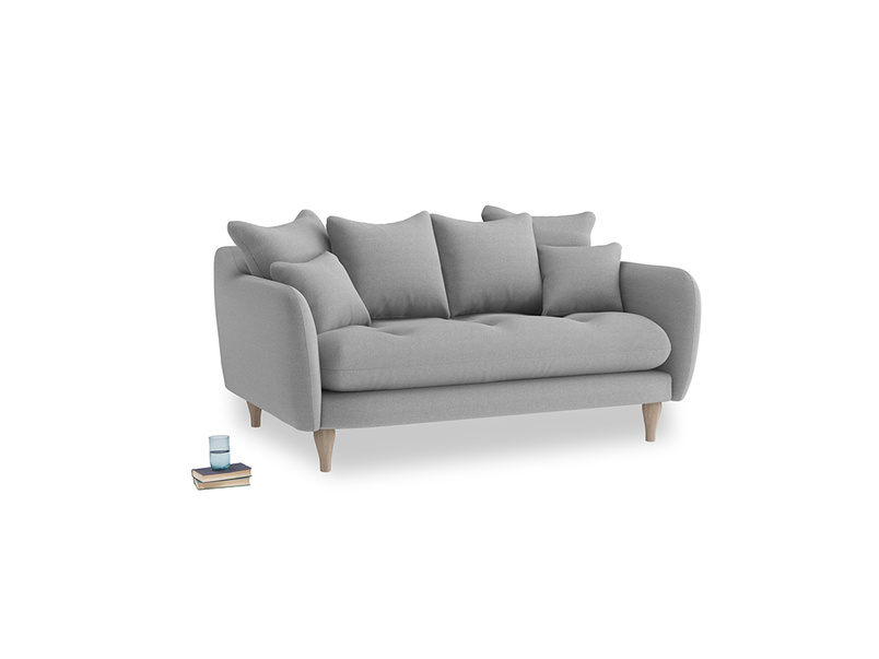 Small Skinny Minny Sofa in Magnesium washed cotton linen