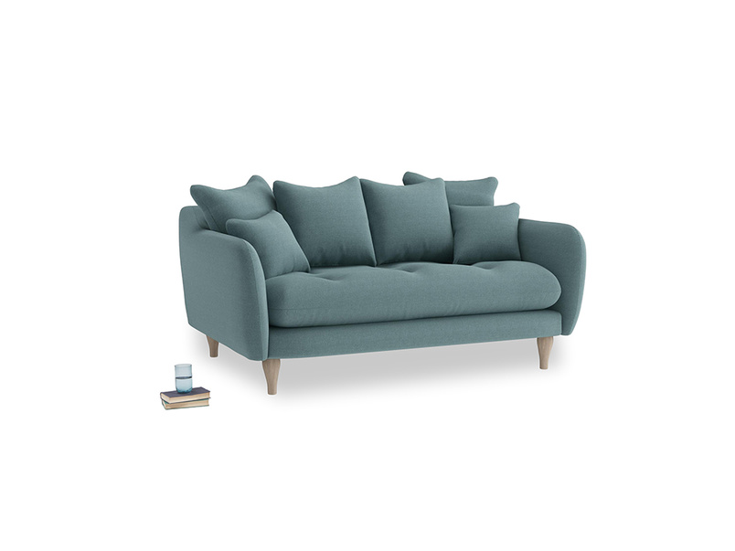 Small Skinny Minny Sofa in Marine washed cotton linen