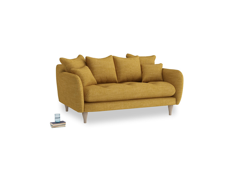 Small Skinny Minny Sofa in Mellow Yellow Laundered Linen