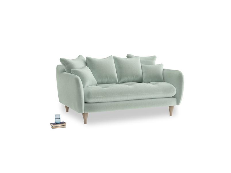 Small Skinny Minny Sofa in Mint clever velvet