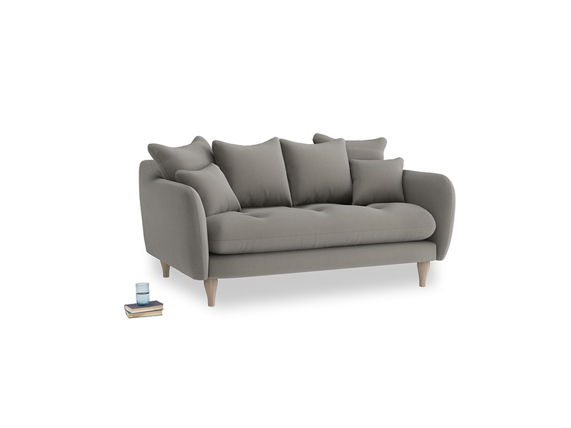 Small Skinny Minny Sofa in Monsoon grey clever cotton