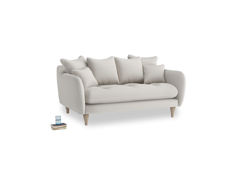 Small Skinny Minny Sofa in Moondust grey clever cotton