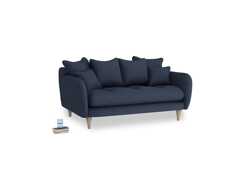 Small Skinny Minny Sofa in Night Owl Blue Clever Woolly Fabric