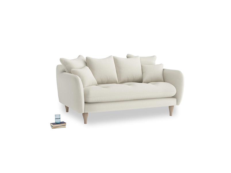 Small Skinny Minny Sofa in Oat brushed cotton