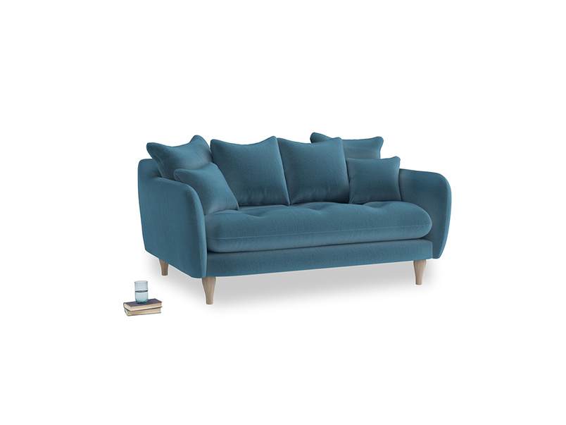 Small Skinny Minny Sofa in Old blue Clever Deep Velvet
