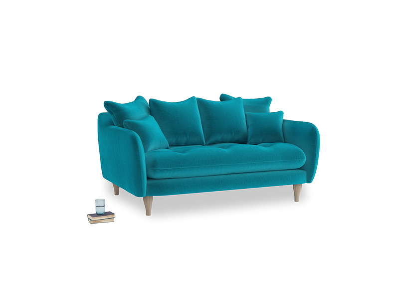 Small Skinny Minny Sofa in Pacific Clever Velvet