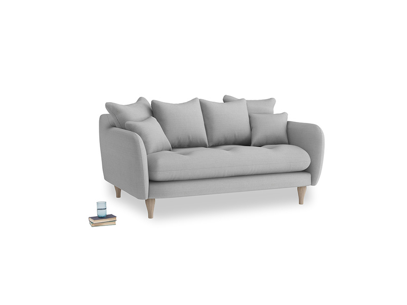 Small Skinny Minny Sofa in Pewter Clever Softie