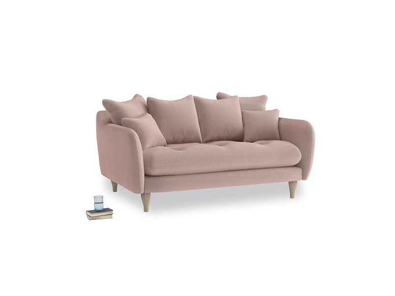 Small Skinny Minny Sofa in Rose quartz Clever Deep Velvet