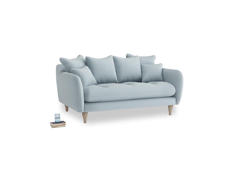 Small Skinny Minny Sofa in Scandi blue clever cotton