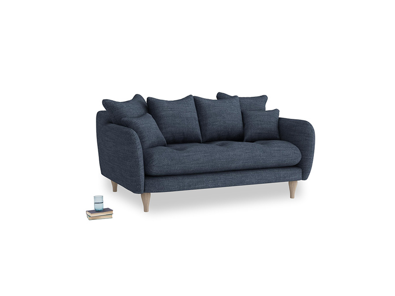 Small Skinny Minny Sofa in Selvedge Blue Laundered Linen