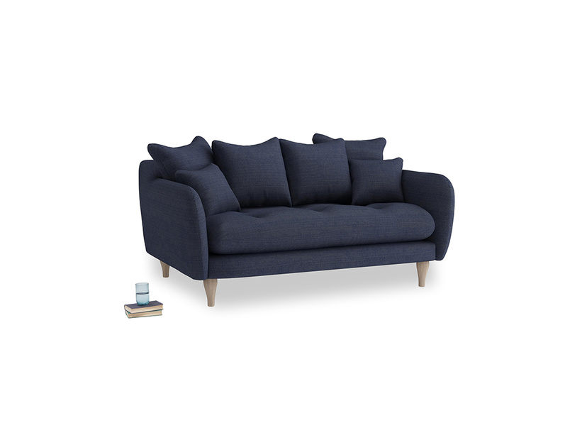 Small Skinny Minny Sofa in Seriously Blue Clever Softie