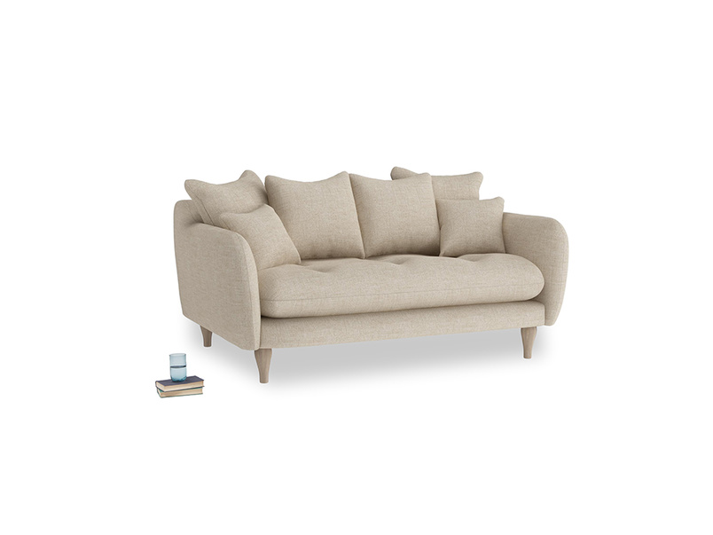 Small Skinny Minny Sofa in Flagstone clever woolly fabric