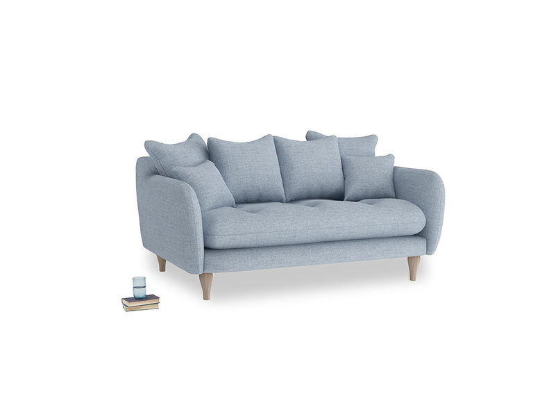 Small Skinny Minny Sofa in Frost clever woolly fabric