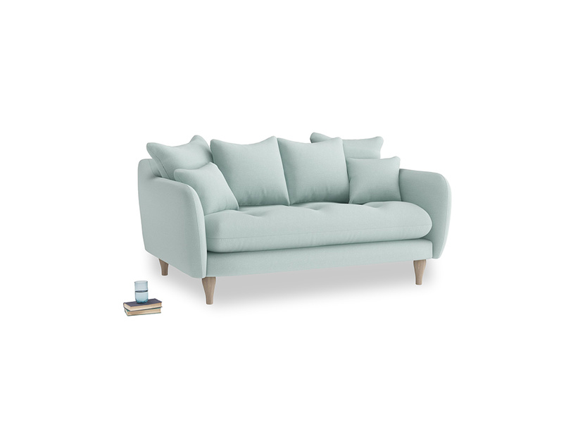 Small Skinny Minny Sofa in Gull's Egg Brushed Cotton