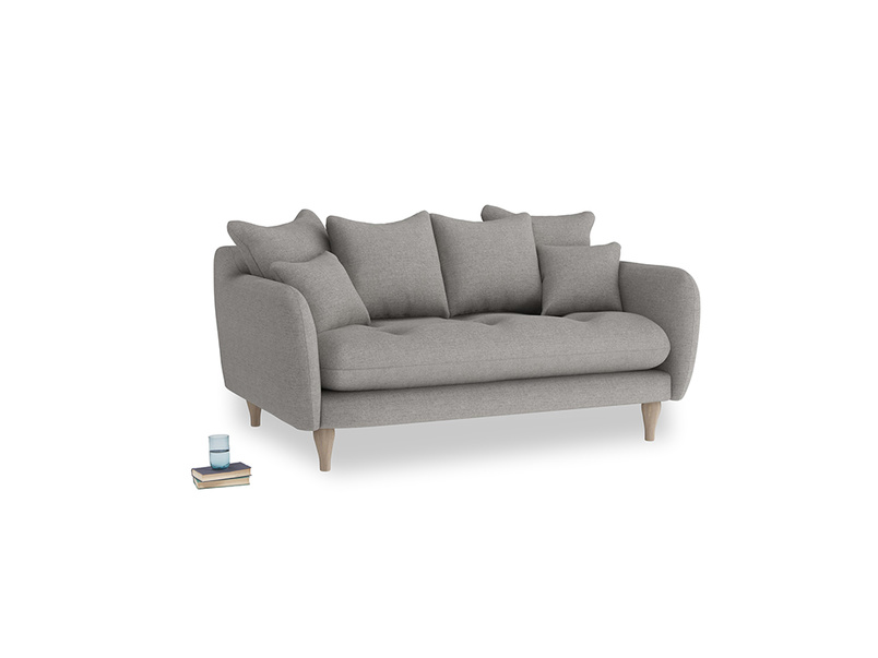 Small Skinny Minny Sofa in Marl grey clever woolly fabric