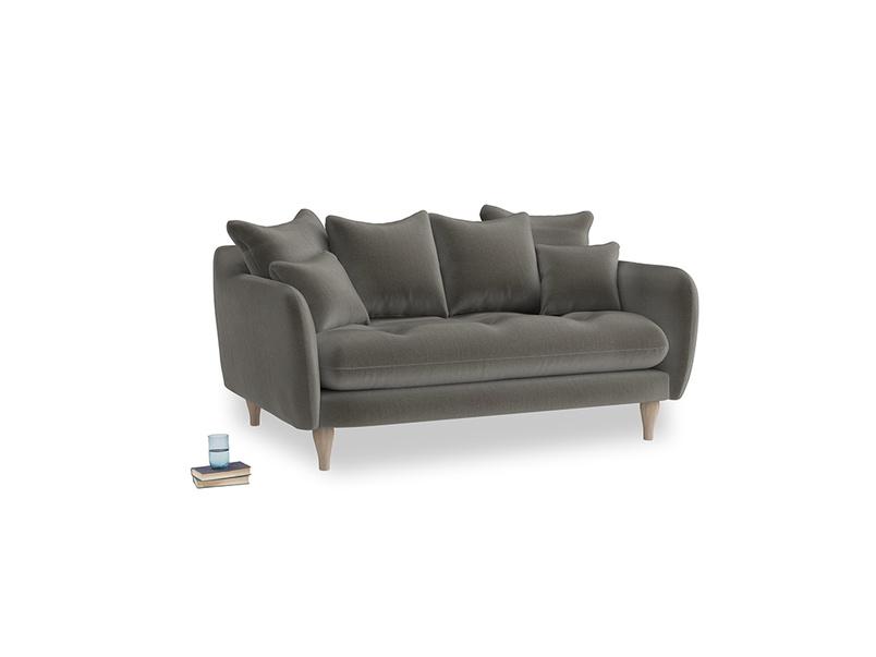 Small Skinny Minny Sofa in Slate clever velvet