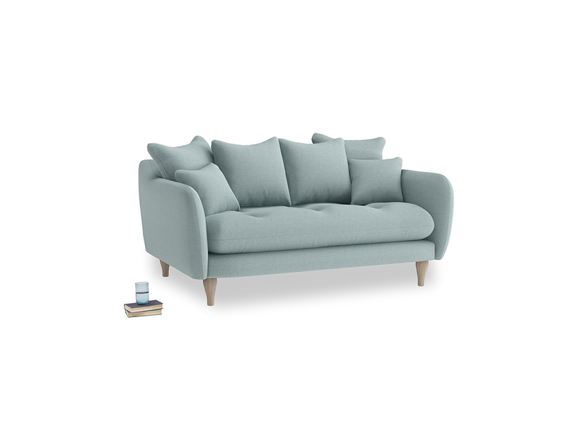 Small Skinny Minny Sofa in Smoke blue brushed cotton