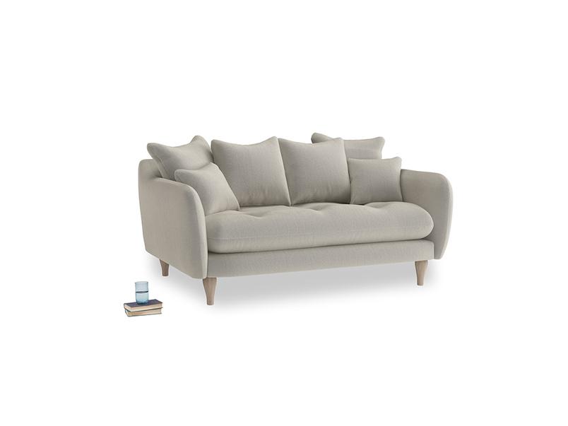 Small Skinny Minny Sofa in Smoky Grey clever velvet