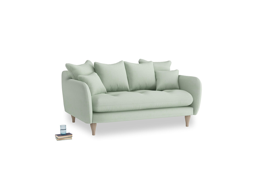 Small Skinny Minny Sofa in Soft Green Clever Softie