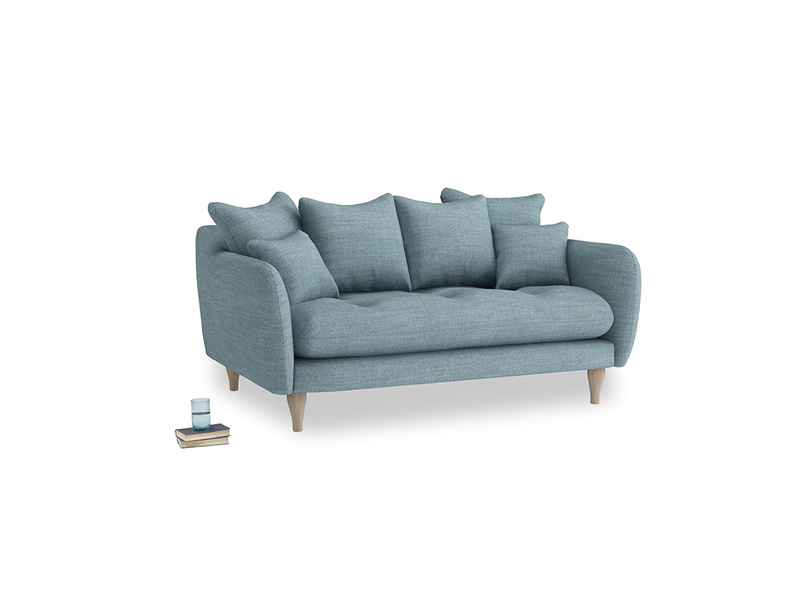 Small Skinny Minny Sofa in Soft Blue Laundered Linen