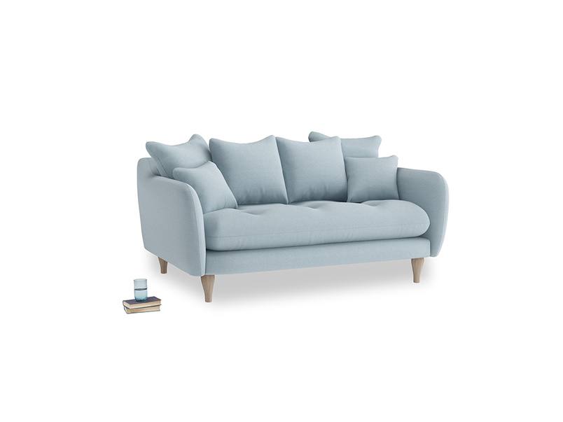 Small Skinny Minny Sofa in Soothing blue washed cotton linen
