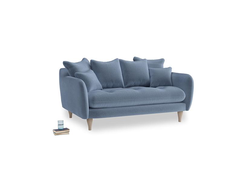 Small Skinny Minny Sofa in Winter Sky clever velvet