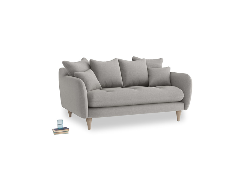 Small Skinny Minny Sofa in Wolf brushed cotton