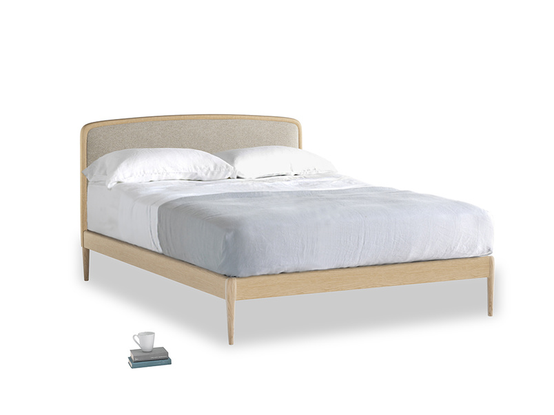Double Smoothie Bed in Birch wool