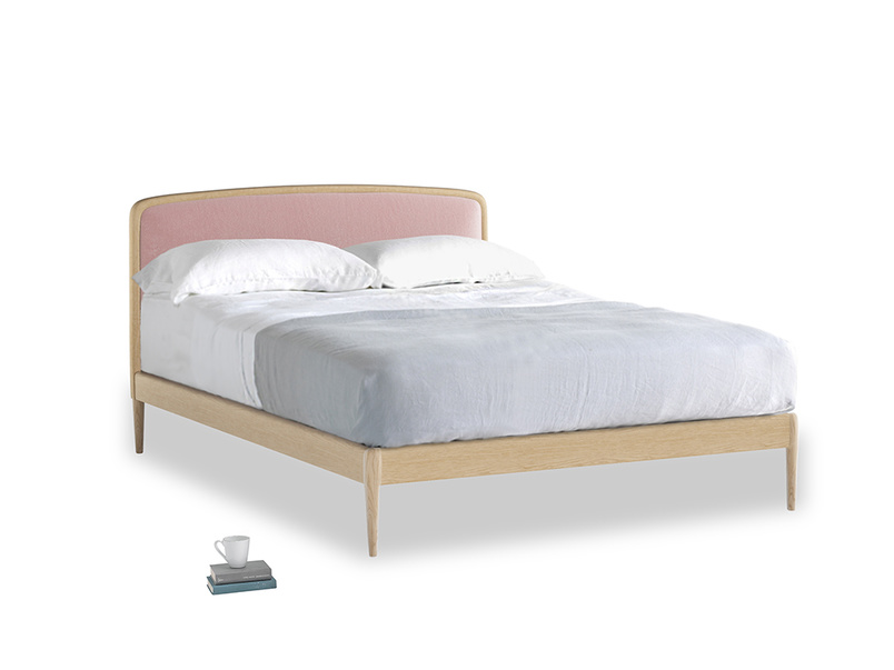 Double Smoothie Bed in Chalky Pink vintage velvet