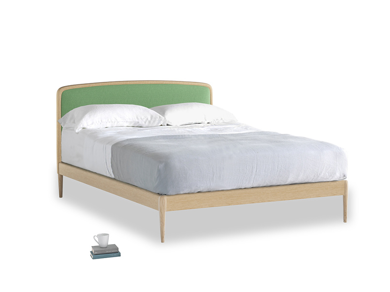 Double Smoothie Bed in Clean green Brushed Cotton