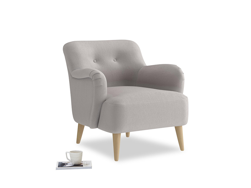 Diggidy Armchair in Mouse grey Clever Deep Velvet