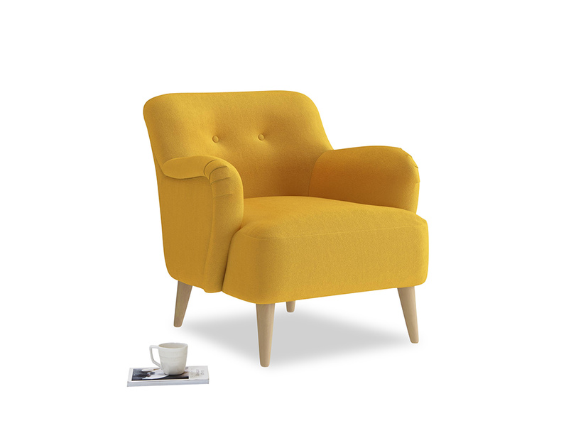 Diggidy Armchair in Pollen Clever Deep Velvet