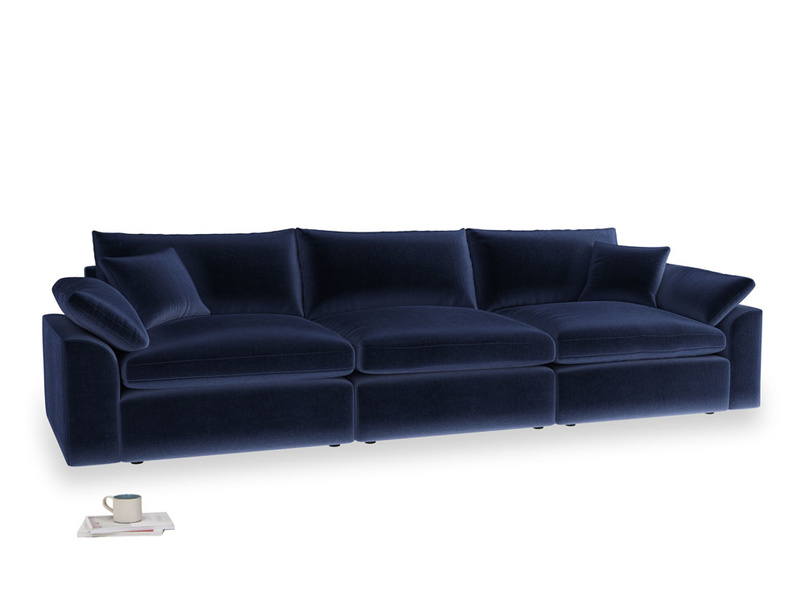 Large Cuddlemuffin Modular sofa in Goodnight blue Clever Deep Velvet