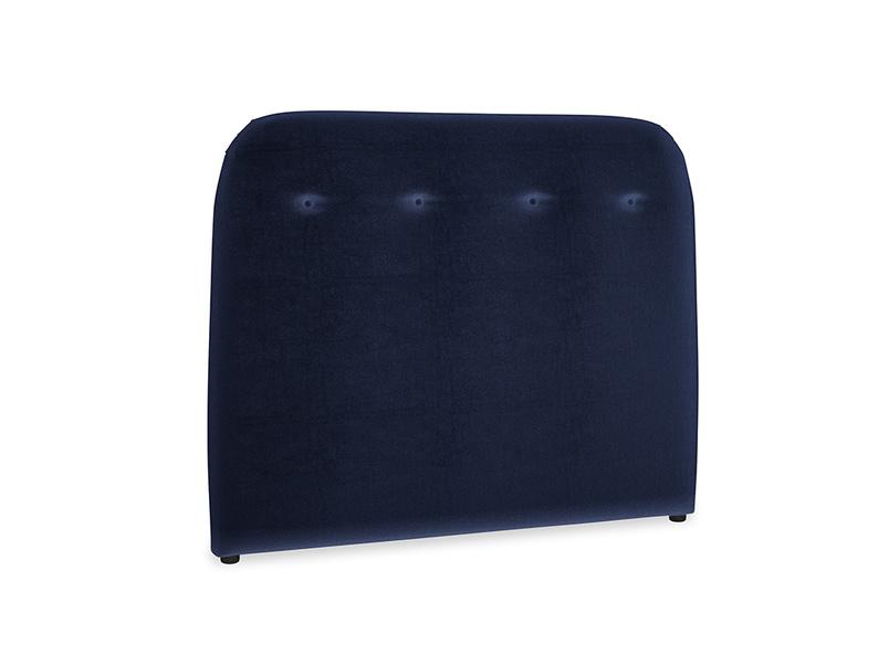 Double Napper Headboard in Goodnight blue Clever Deep Velvet