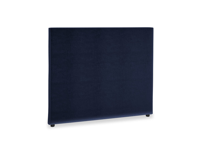 Double Piper Headboard in Goodnight blue Clever Deep Velvet