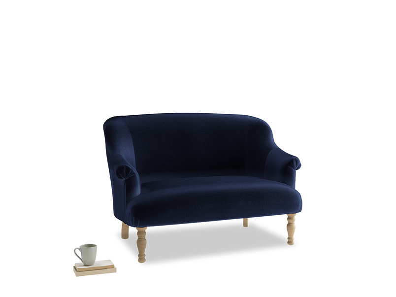 Small Sweetie Sofa in Goodnight blue Clever Deep Velvet