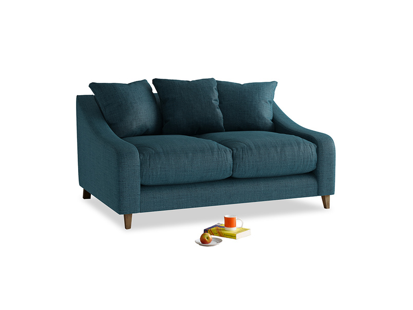 Small Oscar Sofa in Harbour Blue Vintage Linen