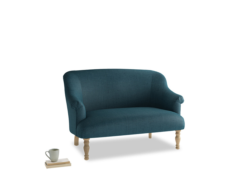 Small Sweetie Sofa in Harbour Blue Vintage Linen
