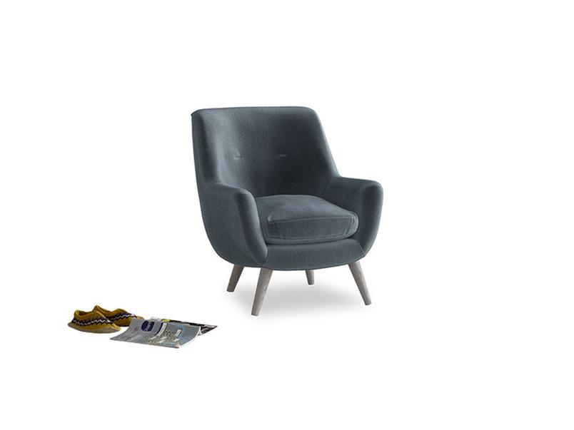 Berlin Armchair in Odyssey Clever Deep Velvet