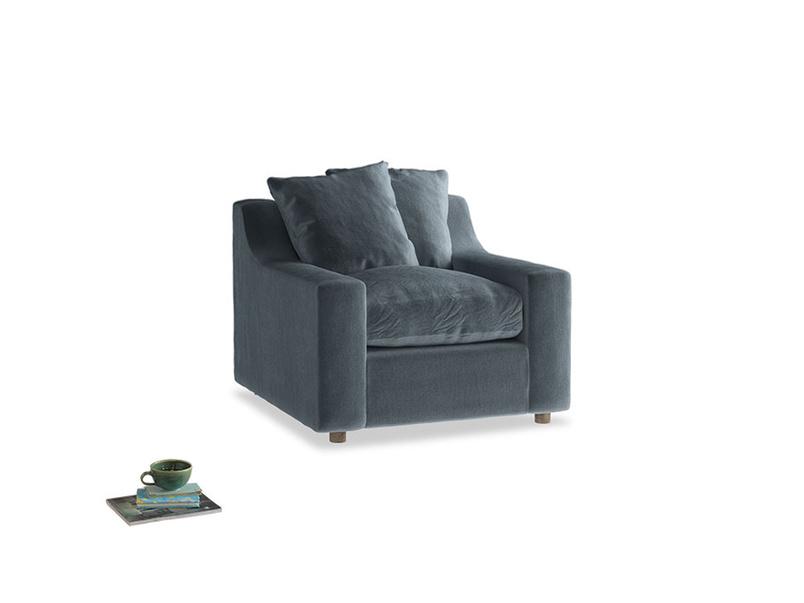 Cloud Armchair in Odyssey Clever Deep Velvet