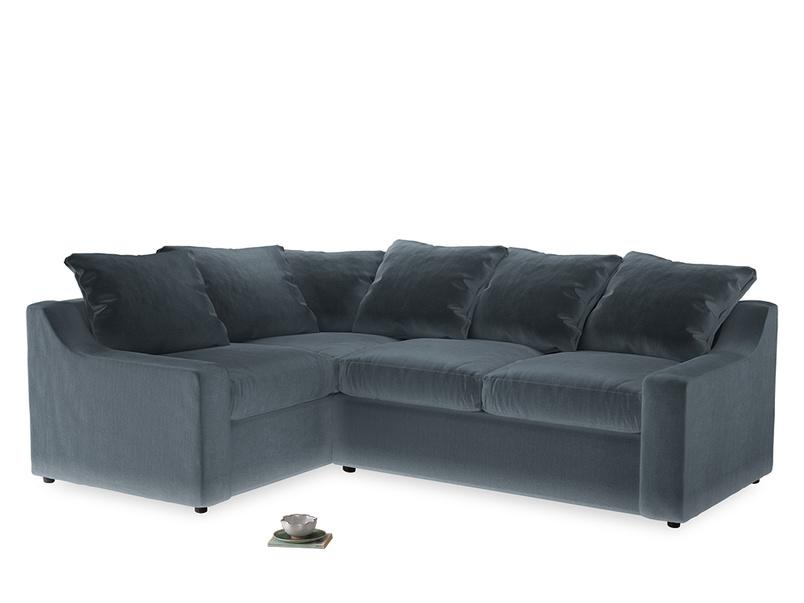 Large Left Hand Cloud Corner Sofa in Odyssey Clever Deep Velvet