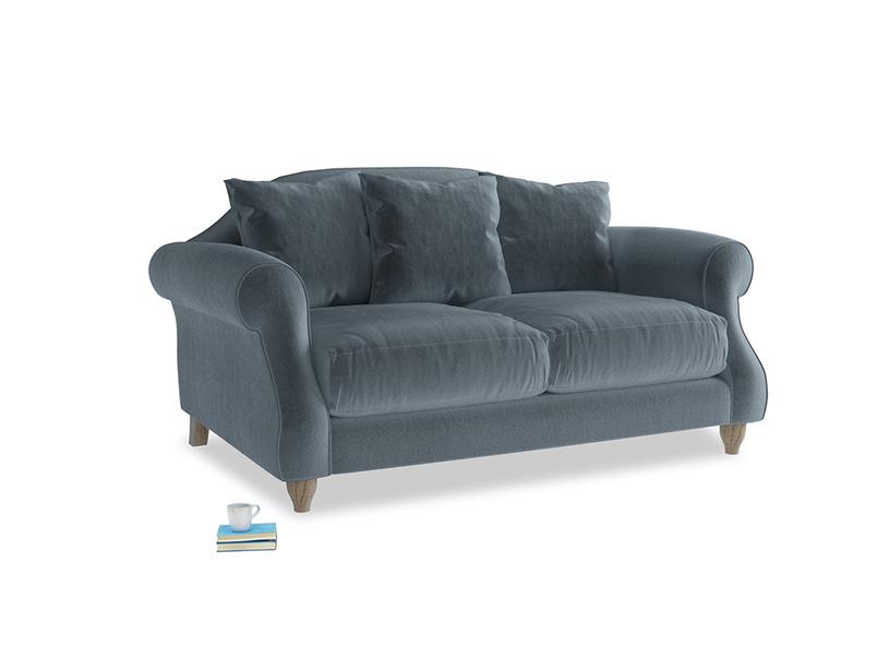 Small Sloucher Sofa in Odyssey Clever Deep Velvet