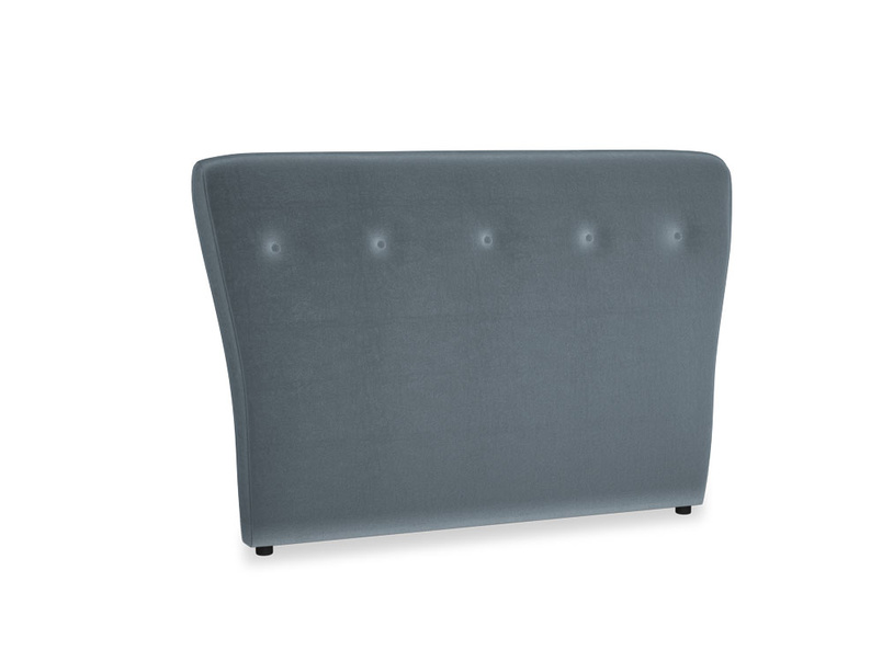 Double Smoke Headboard in Odyssey Clever Deep Velvet