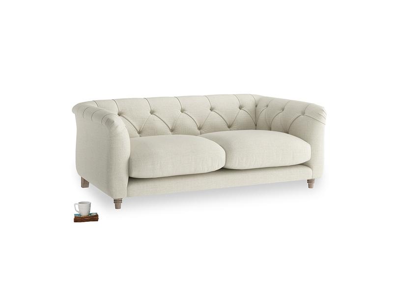 Small Boho Sofa in Stone Vintage Linen