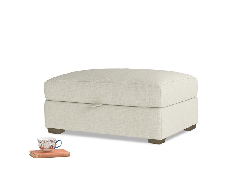 Bumper Storage Footstool in Stone Vintage Linen