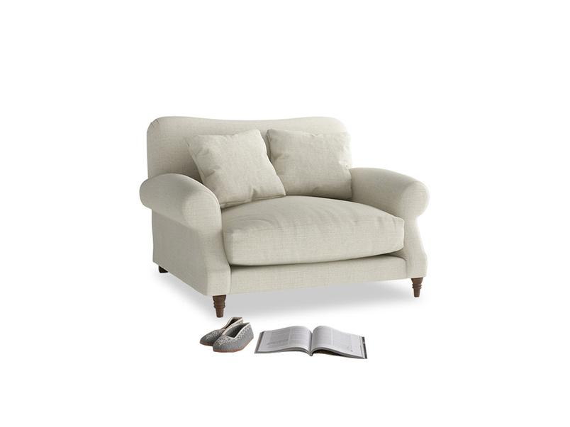 Crumpet Love seat in Stone Vintage Linen