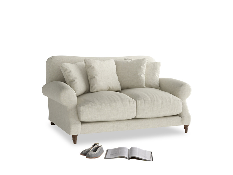 Small Crumpet Sofa in Stone Vintage Linen